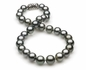 10.33 x 12.71mm Grey Tahitian Pearl Necklace