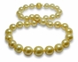 10.4 x 13.7mm Golden South Sea Cultured Pearl Necklace