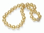 10.5 x 12mm A Quality Golden South Sea Cultured Pearl Necklace