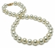 10.5 x 12mm Champagne Color South Sea Pearl Necklace