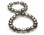 10.69x11.99mm Multicolor Tahitian Pearl Necklace