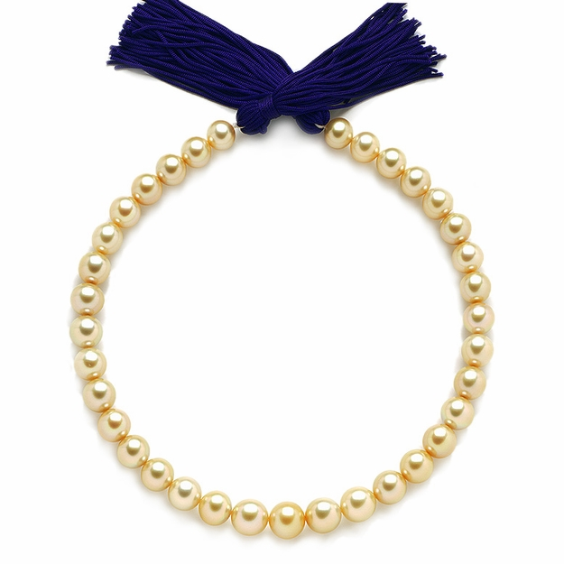 10.7 x 13.7mm Golden Pearl Necklace - 16