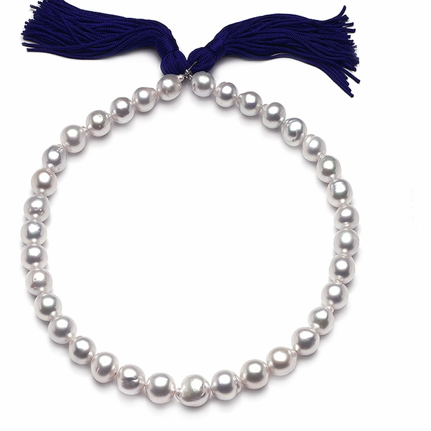 10.7 x 13.9mm White Baroque Pearl Necklace - 16