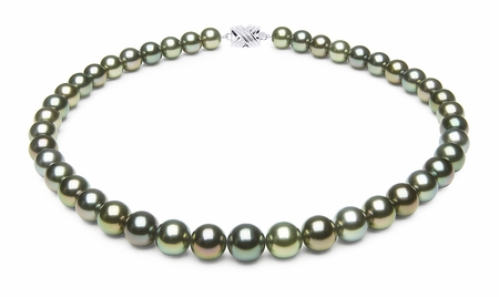 10 x 10.8mm Tahitian Pearl Necklace Serial Number | s9-xj03903m-b34