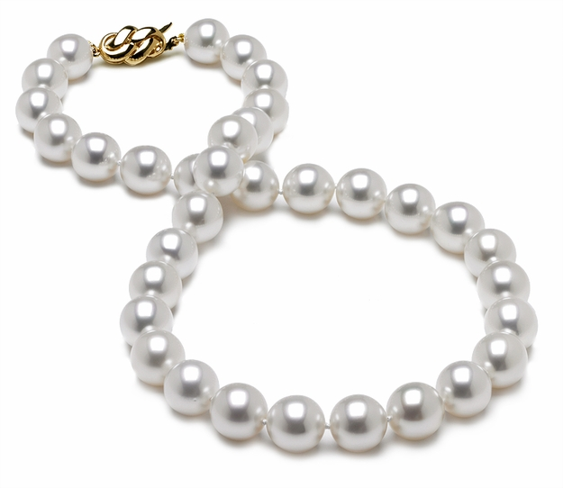10 x 10.9mm White South Sea Pearl Necklace