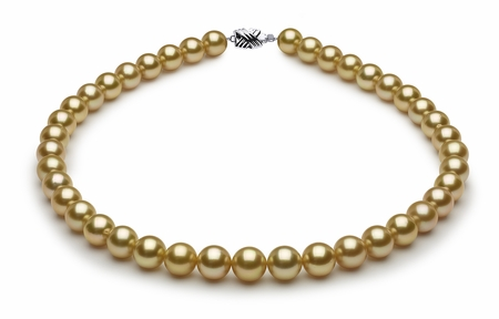 10 x 11.1mm Golden Pearl Necklace Serial Number   s8-sn01924g-b13