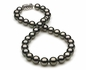 10 x 11.9mm Black Green Tahitian Pearl Necklace