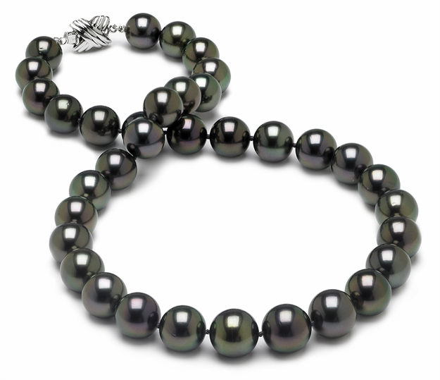 10 x 11mm Aubergine Tahitian Pearl Necklace - 16 inch
