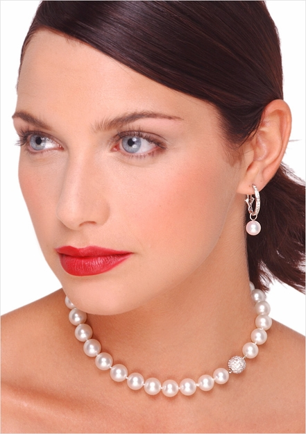 10 x 11mm Australian White South Sea Cultured Pearl Necklace