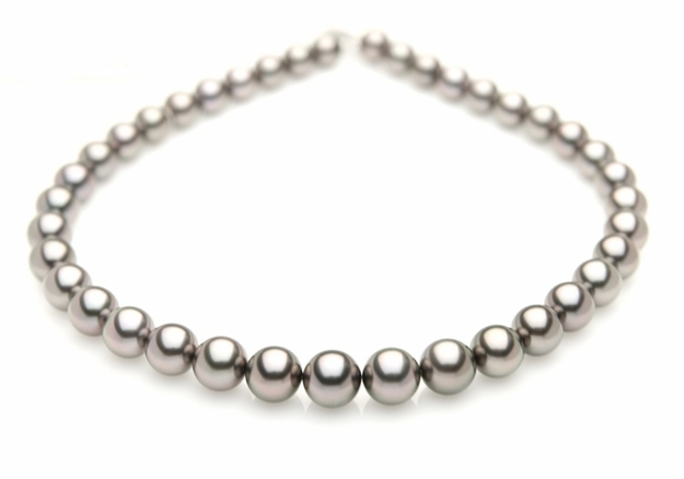 10 x 11mm Grey Tahitian Cultured Pearl Necklace