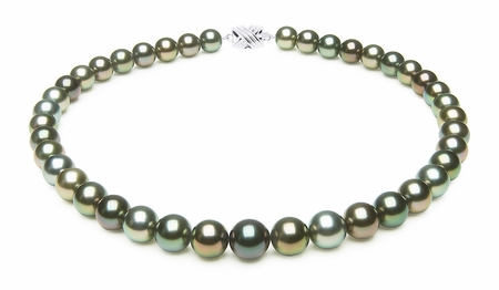 10 x 11mm Multicolor Tahitian Pearl Necklace