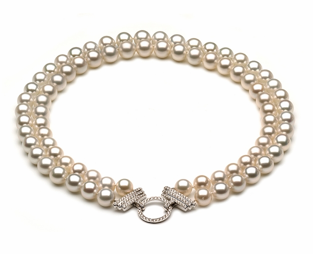 10 x 11mm South Sea Pearl and Diamond Necklace
