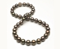 10 x 12.2mm Tahitian Pearl Necklace with Brown Diamonds