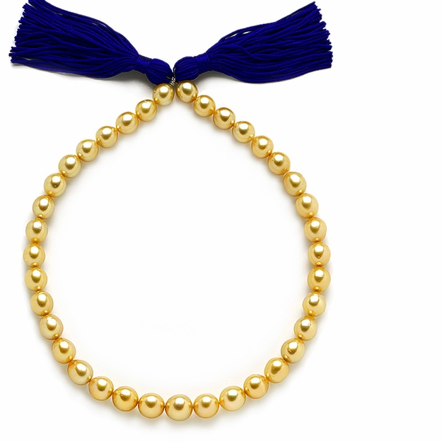 10 x 12.5mm Golden Pearl Necklace - 16