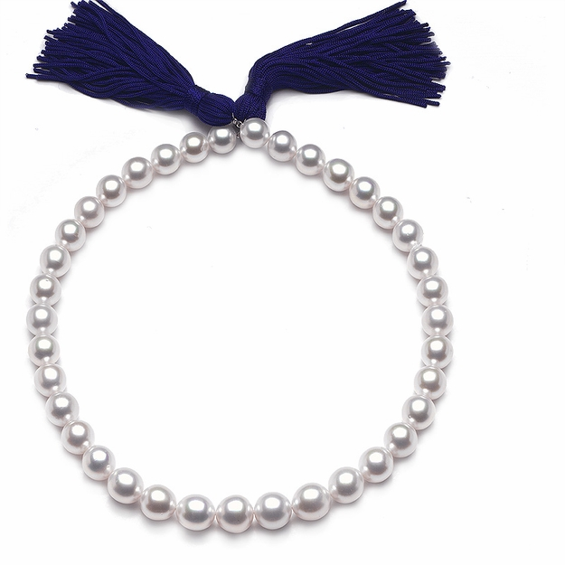 10 x 12.8 mm White Pearl Necklace - 16