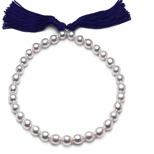 10 x 12.9mm White Drop Pearl Necklace - 16