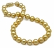 10 x 12mm Golden South Sea Pearl Necklace