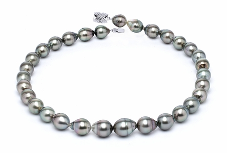 10 x 12mm Grey Baroque Tahitian Pearl Necklace