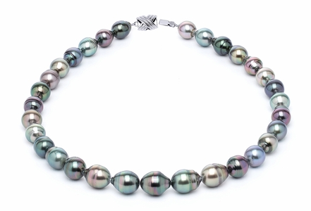 10 x 12mm Multicolor Baroque Tahitian Pearl Necklace