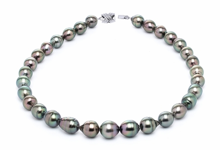 10 x 12mm Peacock Baroque Tahitian Pearl Necklace