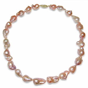 10 x 12mm Pink Freshwater Pearl Necklace