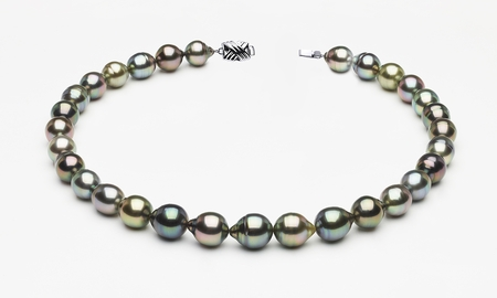 10 x 12mm Tahitian Pearl Multicolor Baroque Necklace | Serial Number s8-clabc-multi-color-b65