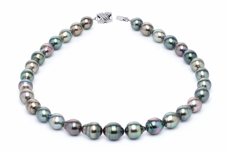 10 x 12mm Tahitian Pearl Necklace Serial Number | s10-multi-color-b25