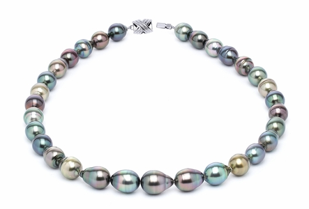 10 x 12mm Tahitian Pearl Necklace Serial Number | s10-multi-color-b26