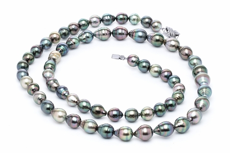 10 x 12mm Tahitian Pearl Necklace Serial Number | s10-multi-color-b42
