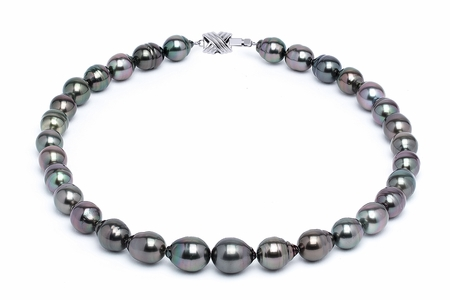 10 x 12mm Tahitian Pearl Necklace Serial Number | s11-dark-color-b37