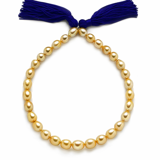 10 x 13.1mm Golden Pearl Necklace - 16