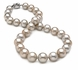 10 x 13.9mm Dove Grey Tahitian Pearl Necklace - 16 inch