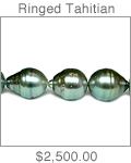 10 x 14mm Medium Grey Ringed South Sea Tahitian Cultured Pearl Necklace