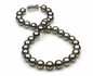 10mm to 11mm D Quality Black Tahitian Pearl Necklace