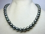 10mm x 109mm Black Tahitian Natural Color South Sea Cultured Pearl Necklace