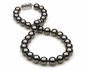 10x11.9mm Black Rose Tahitian Pearl Necklace