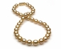 10x13.2mm Golden Pearl Necklace