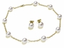 11 x 11.5mm White South Sea Cultured Pearl Tin Cup Necklace