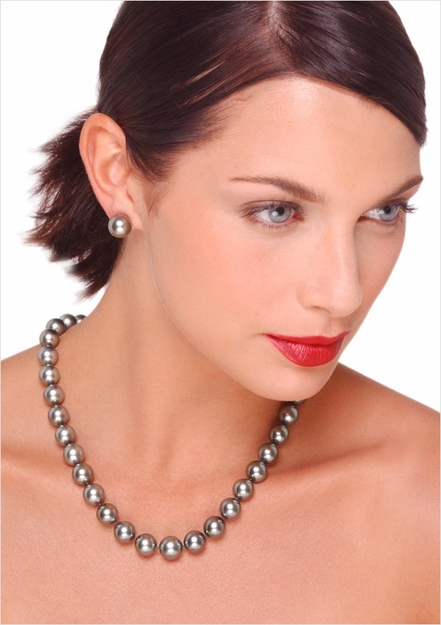 11 x 12.7mm Tahitian South Sea Cultured Pearl Necklace