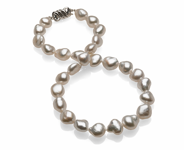 11 x 12.9mm Natural Pearl Keshi South Sea Necklace