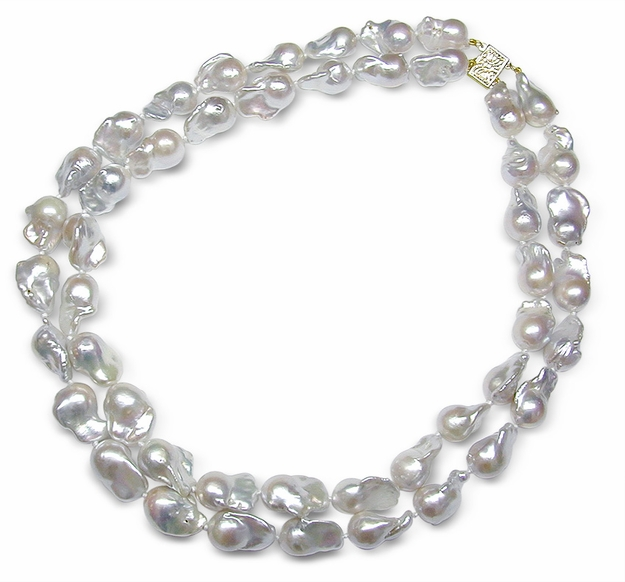 11 x 12mm Baroque Freshwater Double Strand Necklace