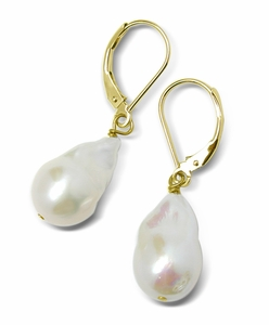 11 x 12mm Baroque Freshwater Pearl Earrings
