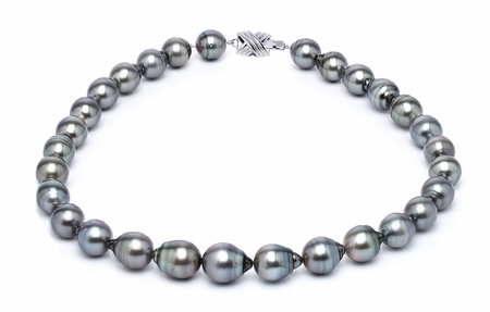 11 x 13mm Grey Baroque Tahitian Pearl Necklace