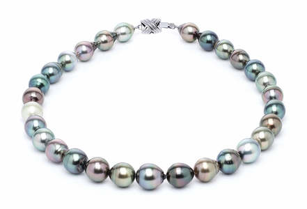 11 x 13mm Multicolor Baroque Tahitian Pearl Necklace