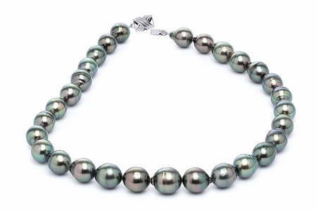 11 x 13mm Peacock Baroque Tahitian Pearl Necklace