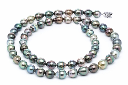 11 x 13mm Tahitian Pearl Necklace Serial Number | s10-multi-color-b45