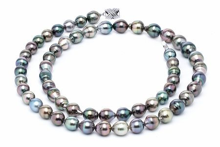11 x 13mm Tahitian Pearl Necklace Serial Number   s10-multi-color-b46