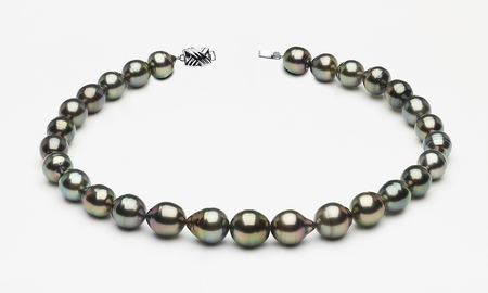 11 x 13mm Tahitian Pearl Peacock Baroque Necklace
