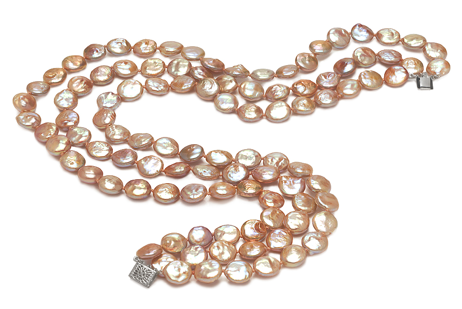 11mm Coin Freshwater Pearl Necklace American Pearl
