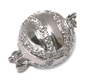 11mm Diamond Ball Swirl Clasp